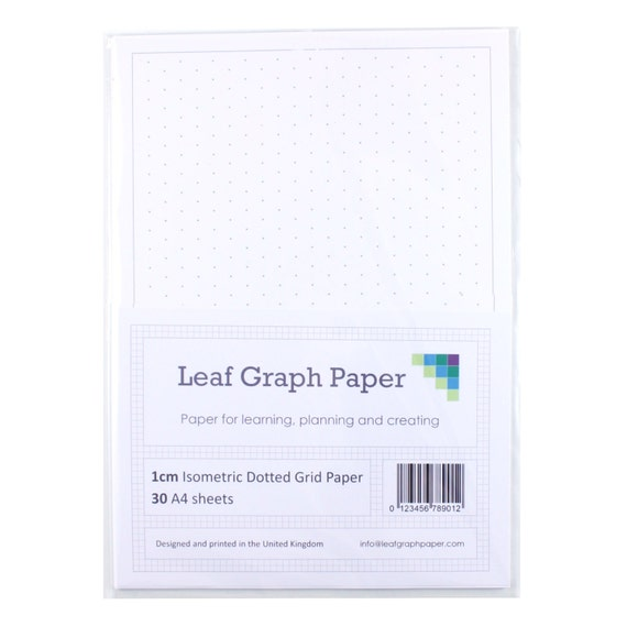 A Grid Paper Pack Cm Mm Isometric Dotted Grid  LooseLeaf