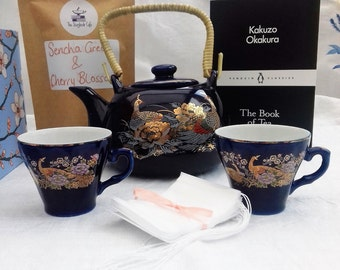 Kakuzo Okakura Book, Green Tea, Teapot & Cups Gift Box