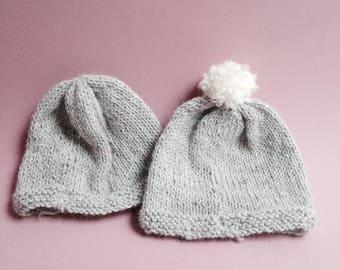 Newborn Hat / Keychain baby / baby / knit / birth gift