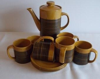 Sale:    A honey and black coffee set.
