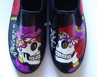 Sugar Skulls hand painted shoes