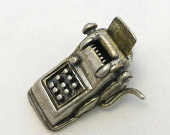 Adorable! Vintage Typewriter Typist Charm in Sterling Silver BEAU