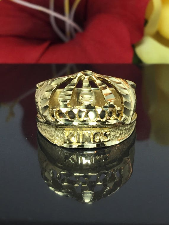 14k Solid Gold Men s Crown Ring Men s Nug Rings