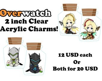 """Overwatch - 2"""" Acrylic Double-sided Bottle Charms: Gency"""