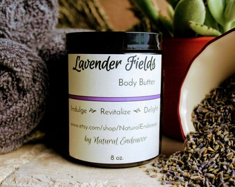 Lavender Fields Organic Body Butter * Natural Body Butter * Organic Body Butter