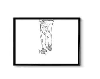 Nike Air Max 90s M Legs - a4 - Print