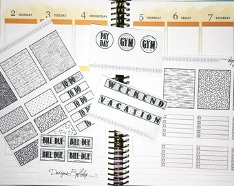 Erin Condren Vertical Planner Stickers
