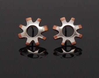 7/16 silver copper studs