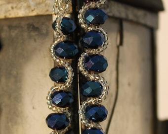 Blue pearls bracelet / Dark Blue Bracelet  / Dark Blue Jewelry  / Women's Bracelet / Handmade Bracelet