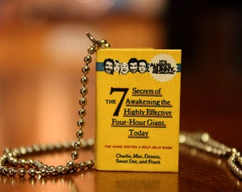 3cm 'The Gang Writes A Self Help Book' Its Always Sunny in Philadelphia Handmade Miniature Book Replica Necklace