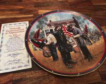 Civil War Collectible Grant & Lee at Appomattox Plate