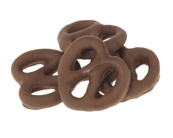 Gourmet Dark Chocolate Covered Pretzels by Its Delish (One Pound)