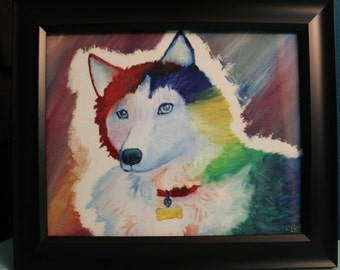 Siberian Husky-Original Oil Painting