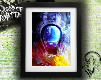 Mass Effect Tali Vas Neema/Normandy Portrait Print