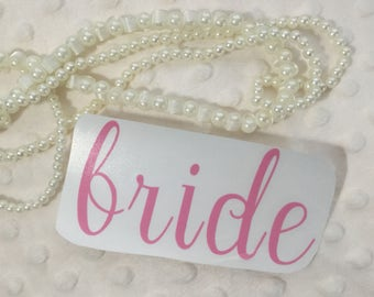 Wedding Party car decal sticker, mug decal Decal Only!