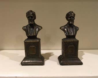 Pair of Abe Lincoln Bust Bookends