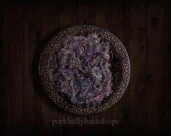 Copper Bowl, Purple Fabric