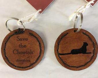 Save The Cheetah Key Chain