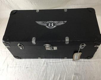 Black 1930's miniature trunk