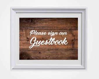 Wedding Guestbook, Country Wedding, Rustic Wedding, Rustic Wedding Sign, Guestbook, Wedding Sign, Wedding Decor