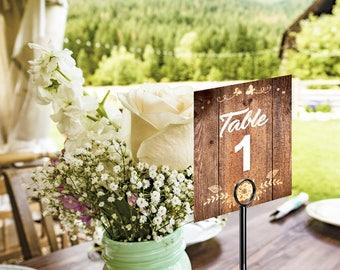 Wedding Table Numbers, Country Wedding, Rustic Wedding, Rustic Wedding Sign, Table Number, Wedding Sign, Wedding Decor
