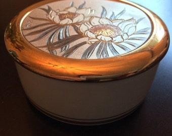 Chokin Japanese 24k Gold Ring or Trinket Dish.