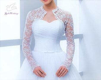 Bridal bolero lace long sleeve