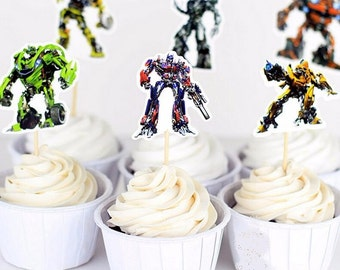 24 pieces Transformers Cake/Cupcake toppers