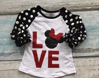 Minnie inspired ruffle shirt