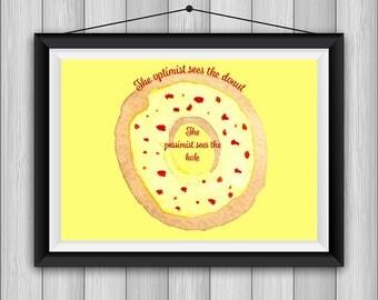 Optimistic Donut Quote *INSTANT DOWNLOAD*
