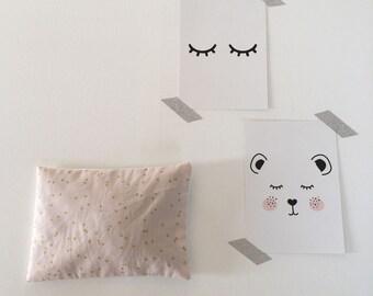 "Lavender pillow ""Dots pink"""