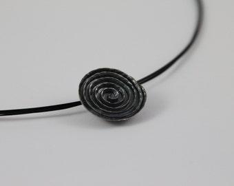Trailer spiral sterling silver