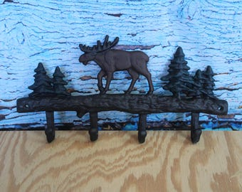 Cast Iron Moose Wall Hooks, Key holder,