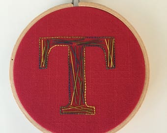 T is for Testify - Embroidered Letter
