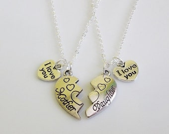 I love you Mom necklace, Mom Necklace, I love you Daughter necklace, Gifts for Mom, Gifts for Daughter, Mother's day gifts