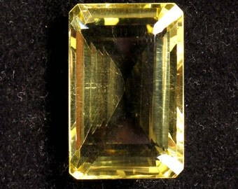 66.70 Carats. Natural Lemon Quartz Faceted Octagon 29 X 19 X 14 MM Size Approx Loose Gemstones Ki-15139