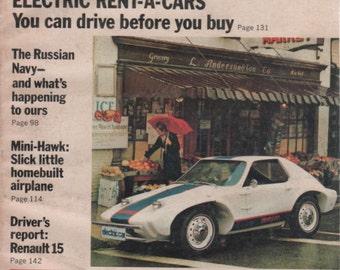 Popular Mechanics Magazine September 1972 Quick Change Ideas for Your Home