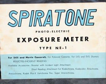Spriatone exposure meter Type NE-1 Manual