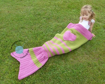 Mermaid tail coverage. Baby, child, adult. Shower. Birth gift. Doudou.Sur command.