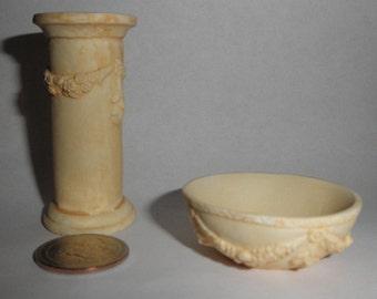 Dollhouse miniature stand flower pedestal