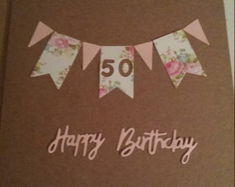 personalised birthday card // for her // for mum // for sister // for nan // 18th // 21st // 30th // 40th // 50th // 60th // 70th // wife