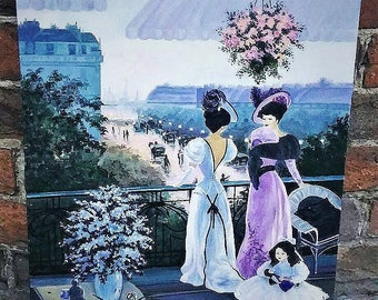 """Oil-painting """"Ladies on the balcony"""""""
