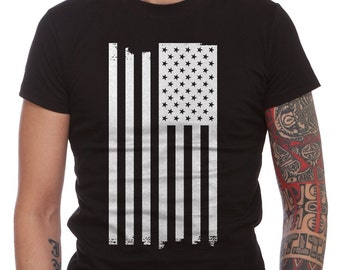 American flag in black and white (R082)