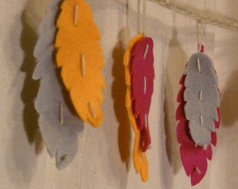 Felt Feather Garland Kit