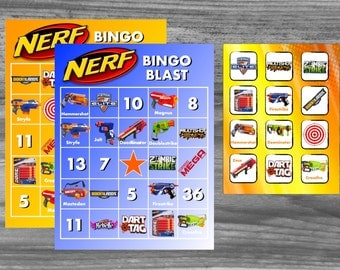 Nerf Blaster Bingo Party Game