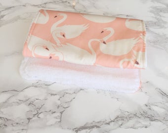 Burp cloths, baby girl, baby girl gift, baby burp cloth, burp rags, baby girl burp cloth, pink burp cloth, baby accessories