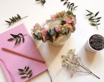 Diadema boho de flores preservadas ALICE