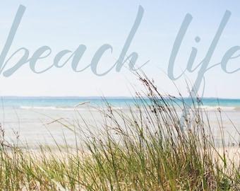 Beach Life / 8x10 Professional  Text Print