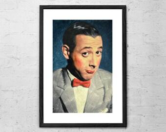 Pee wee Herman - Paul Reubens - Pee wee Herman Painting - Pee wee Herman Portrait - Tequila - Pee Wee's Playhouse - Pee Wee's Big Adventure