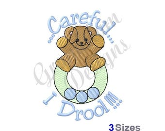 Baby Teether - Machine Embroidery Design